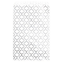 "Shimmering Trellis Design Pattern Flat Paper Bags - 4"" x 6"" - 100Bags/Pack"