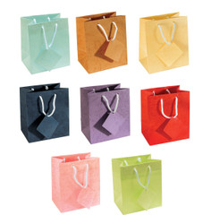 "Assorted Pastel Tote Bag - 3"" x 2"" x 3 1/2""H (10Bags/Pack)"