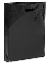 "Black 15"" x 18"" x 4"" Patch Handle Bags (100 Bags/Pk)"