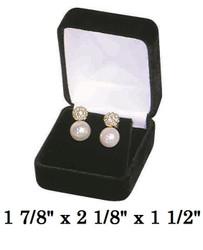 Classic Black Velvet Earring Jewelry Gift Box