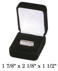Classic Black Velvet Ring Jewelry Gift Box