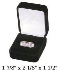 Classic Black Velvet Ring Jewelry Gift Box