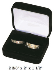 Classic Black Velvet Double Ring Gift Box