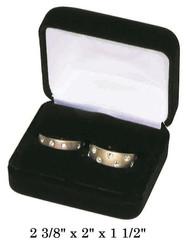 Classic Black Velvet Double Ring Gift Box