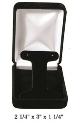 Classic Black Velvet T-Shaped insert Earring Gift Box