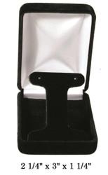 Classic Black Velvet T-Shaped insert Earring Gift Box