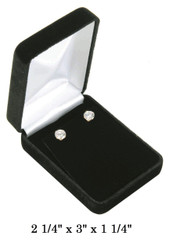 Classic Black Velvet Pendant/Earring (Flap)Jewelry Gift Box