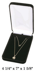 Elegant Black Velvet Necklace Gift Box