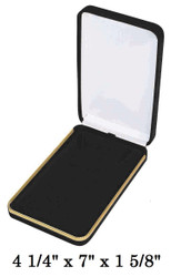 Classic Black Velvet Necklace Gift Box with an Elegant Brass Trim