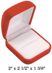 Soft Flocked Red Velour Large Ring Gift Box