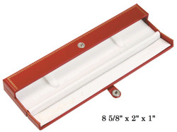 Red Bracelet/Watch Snap-Tab Leatherette Box