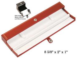Black Bracelet/Watch Snap-Tab Leatherette Box