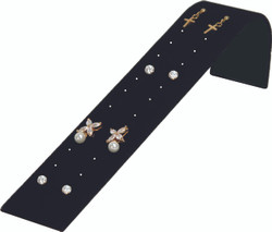 Black Earring Ramp Display for up to 12 Pair of Studs