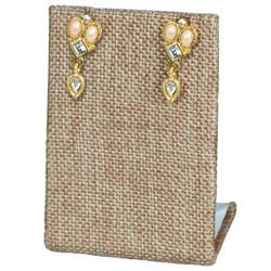 Burlap Fabric Single Rectangular Earring Display