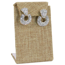 Burlap Fabric Single with Flap Earring Display