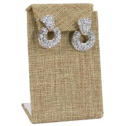 Burlap Fabric Single with Flap Earring Display
