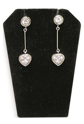 Black Single Notched Edges Earring Display Stand