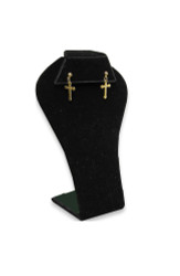 Black Single Shapely Earring Display