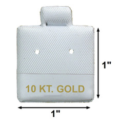 """10 KT. Gold"" Printed White Vinyl Puff Pads - 1"" x 1"""