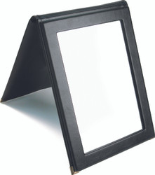Portable Black Snap Folding Mirror
