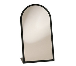 Black Acrylic Frame Glass Mirror