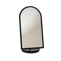 Black Acrylic Frame Rotating Glass Mirror