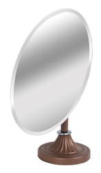 Adjustable Mirror with Metal Base (Oval w/Tilt)