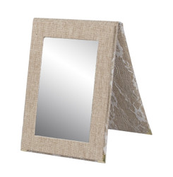Burlap Lace Snap Folding Mirror