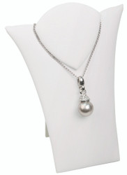 "White 5 1/2""H Necklace Display with Easel"