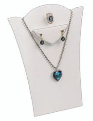 "White 11 3/8""H Necklace Display with Easel"