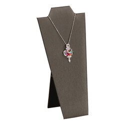 "Steel Grey 8 7/8""H Necklace Display with Easel"