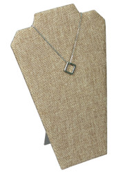 "Burlap Fabric 12 1/2""H Necklace Display with Easel_II"