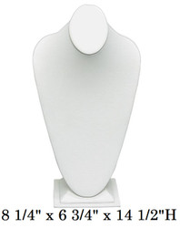 Tall White Oval top with Slim bottom Base Elegant Necklace Display