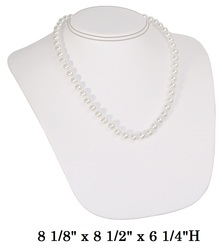 Large White Sloped Neckform Display