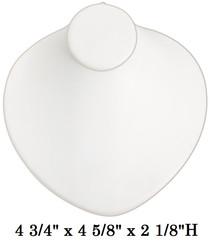 White Round Shaped Lay-Down Jewelry-Displays