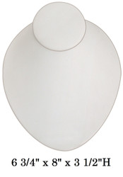 White Oval Shaped Lay-Down Jewelry-Displays