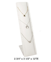 White Slim & Tall Multi Necklace Display (9 Slots)
