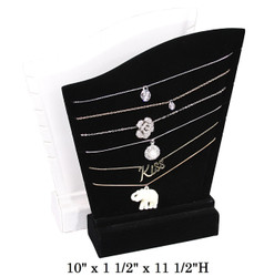 White Wide & Tall Multi Necklace Display (6 Slots)
