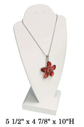 White Transportable Necklace Display Stands