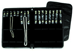 Black Leatherette Folders - 16 Snaps