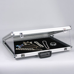 "Large Glass-Top Attache Case - 34"" x 22"" x 3""H"