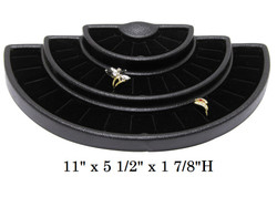 Black Lightweight Tiered Ring Display
