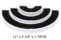 White Lightweight Tiered Ring Display with 36 Slots