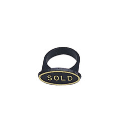 "Black ""Sold"" Ring Markers for Ring Foam (50Pcs)"
