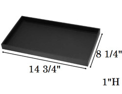 "1"" Deep Standard Black Utility Trays"