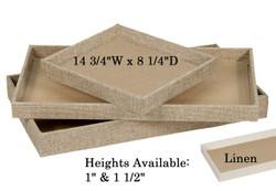 "1"" Deluxe Burlap Standard Utility Trays - 14 3/4"" x 8 1/4"""