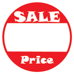 "1"" Self Adhesive Pre-Printed ""SALE Price"" Labels (500 labels)"