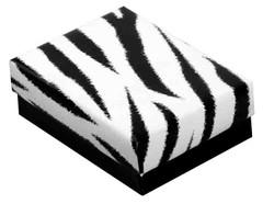 """Zebra Print - 5 3/8"""" x 3 7/8"""" x 1""""H"""