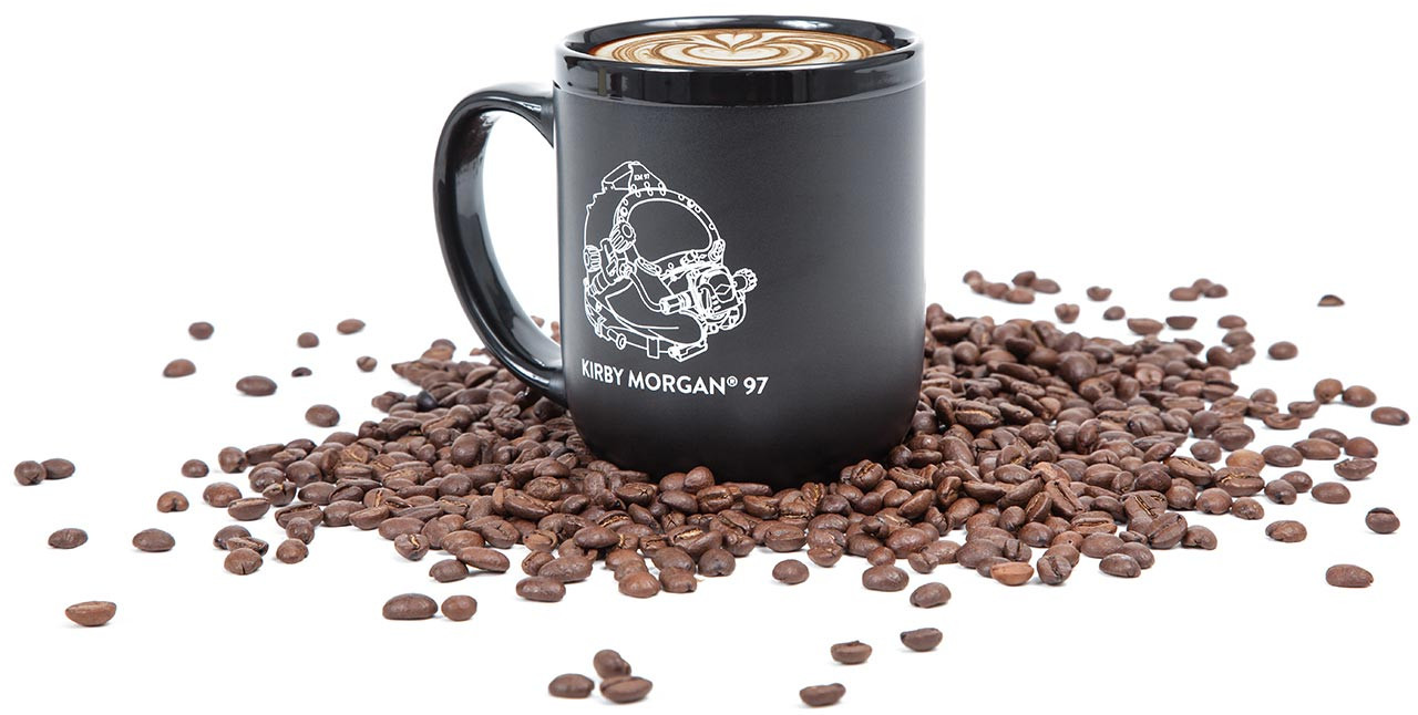 Kirby Morgan Mug with Coffee Beans