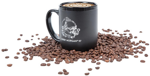 Kirby Morgan Mug with Coffee Beans